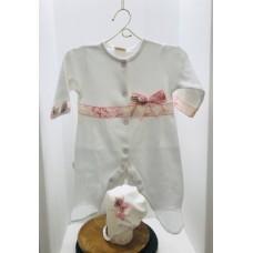Комбинезон с декоративной ленточкой с чепчиком Jolly Baby