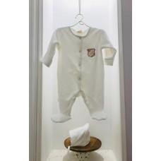 Комбинезон велюровый с вышитым гербом Jolly Baby