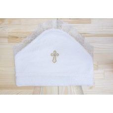 Пеленка-уголок для крещения Ажур Jolly Baby
