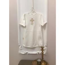 Рубашка крестильная Вышивка кнопки сзади для мальчика Jolly Baby