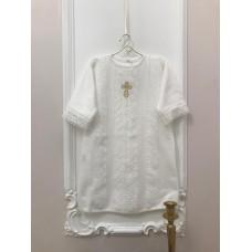 Рубашка крестильная Ажур для мальчика Jolly Baby