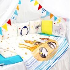 Комплект в кроватку Золотой гусь Ковчег, 17 предметов