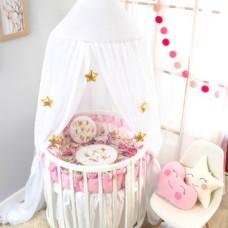 Комплект ватрушка в круглую кроватку Золотой гусь 12 месяцев, 5 предметов