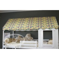 Двухъярусная кровать с крышей-тентом Р428.1 Красная Звезда
