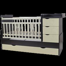 Детская кроватка трансформер Топотушки Лаура 3 в 1