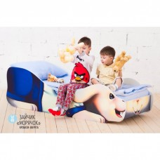 Детская кровать Бельмарко Зайчик Морячок 160 на 70