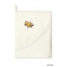 Банное махровое полотенце с капюшоном Сонный гномик Утя