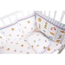 Бортик в кроватку Сонный гномик Маяк из 10 подушек