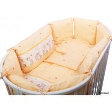 Бортик в кроватку Сонный гномик Оленята из 10 подушек