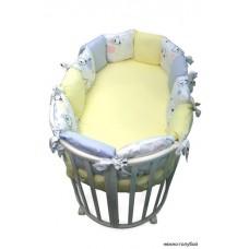 Бортик в круглую кроватку Сонный гномик Конфетти из 12 подушек