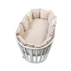 Бортик в круглую кроватку Сонный гномик Версаль из 12 подушек