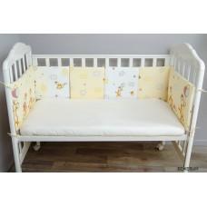 Бортик в кроватку Сонный гномик Жирафик из 10 подушек
