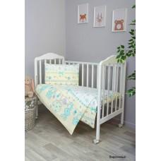 Комплект постельного белья Сонный Гномик Акварель 3 предмета