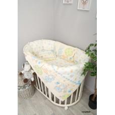 Комплект в круглую кроватку Сонный гномик Акварель