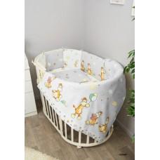 Комплект в круглую кроватку Сонный гномик Жирафик  6 предметов