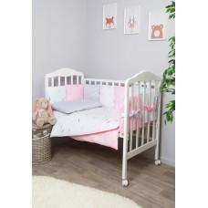 Комплект в кроватку Сонный гномик с бортиками-подушками Стрекоза-Егоза 6 предметов