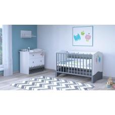Детская комната Polini Basic Монстрики 2 предмета: кроватка детская+комод