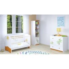 Детская комната Polini Basic Джунгли 3 предмета: кроватка+комод+стеллаж