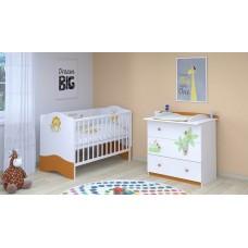 Детская комната Polini Basic Джунгли 2 предмета: кроватка детская+комод