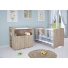 Детская комната Polini Simple Nordic  3 предмета: кроватка детская+комод+полка к комоду
