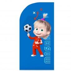 Стеллаж детский книжный Polini kids Fun 800 Маша и Медведь, с текстильными полками