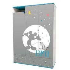 """Шкаф трехсекционный Polini Disney baby """"Микки Маус"""" с ящиками"""