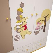 """Шкаф трехсекционный Polini Disney baby """"Медвежонок Винни и его друзья"""""""