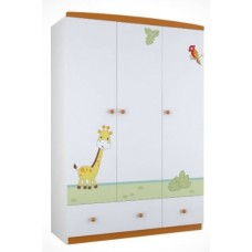 Шкаф трехсекционный Polini Basic Джунгли