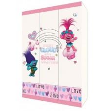 Шкаф трехсекционный Polini kids Fun 1360 Тролли