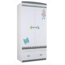 Шкаф двухсекционный Polini Basic Монстрики