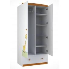 Шкаф двухсекционный Polini Basic Джунгли