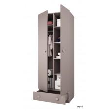 Шкаф двухсекционный Polini Simple с 1 ящиком