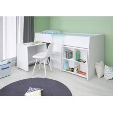 Комплект Polini Simple: кровать-чердак 4100+стеллаж+стол (190х90)