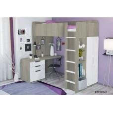 Набор Polini: кровать-чердак Simple+матрас Неженка 200 х 90см