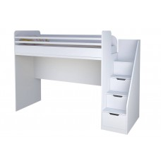 Подростковая кровать-чердак Polini kids City: кровать-чердак+лестница 200х90