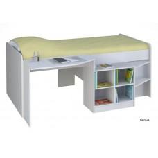 Кровать-чердак детская Polini Simple со столом и полками 4000, 190*90