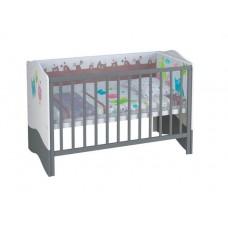 Детская кроватка-трансформер Polini Basic Монстрики 140*70