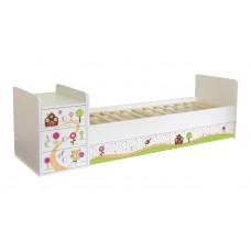 Детская кроватка-трансформер Фея 1100 Пряничный домик маятник поперечный