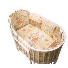 Комплект в круглую и овальную кроватку Золотой гусь Мой Друг 13  предметов