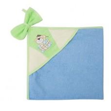 Банный набор махровое полотенце с капюшоном и варежкой Золотой Гусь Забавные Мишки