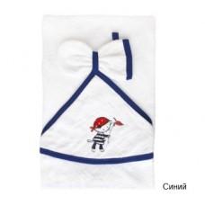 Банное махровое полотенце с капюшоном и варежкой Золотой гусь Морские Котята