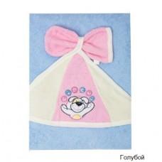 Банное махровое полотенце с капюшоном и варежкой Золотой гусь Циркус