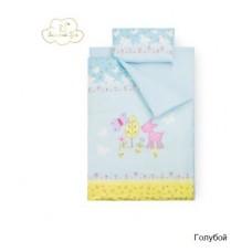 Комплект сменного белья в  детскую кроватку Золотой гусь Little Friend (3 предмета)