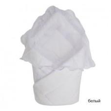 Одеяло-конверт на выписку Золотой гусь с вуалью (сатин жак)