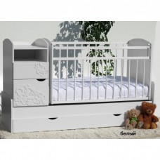 Детская кроватка трансформер маятник Островок уюта Элис Виола
