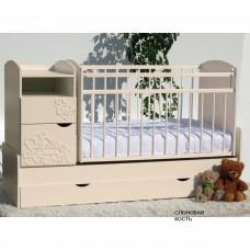 Детская кроватка-трансформер маятник Островок уюта Элис Виола