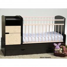 Детская кроватка-трансформер маятник Островок уюта Элис Жужа