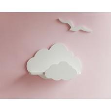 """Полочка-облако """"В белых облаках"""" (березовая фанера+сосна) hand made"""