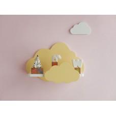 """Полочка-облако """"Солнечные облака"""" (березовая фанера+сосна) hand made"""