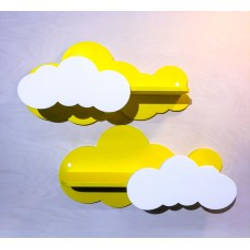 Комплект детских полок «Облачка» - 2 шт hand made